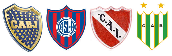 Boca Juniors, San Lorenzo, Independiente de Avellaneda y Banfield